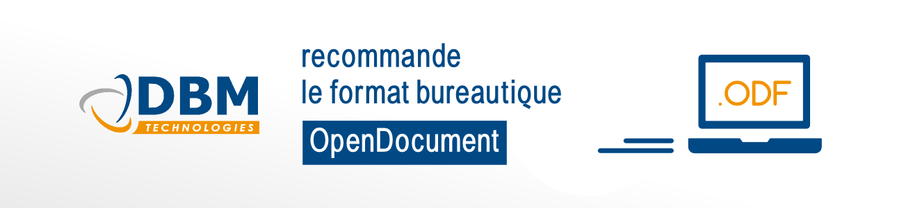 Format Open document recommandé