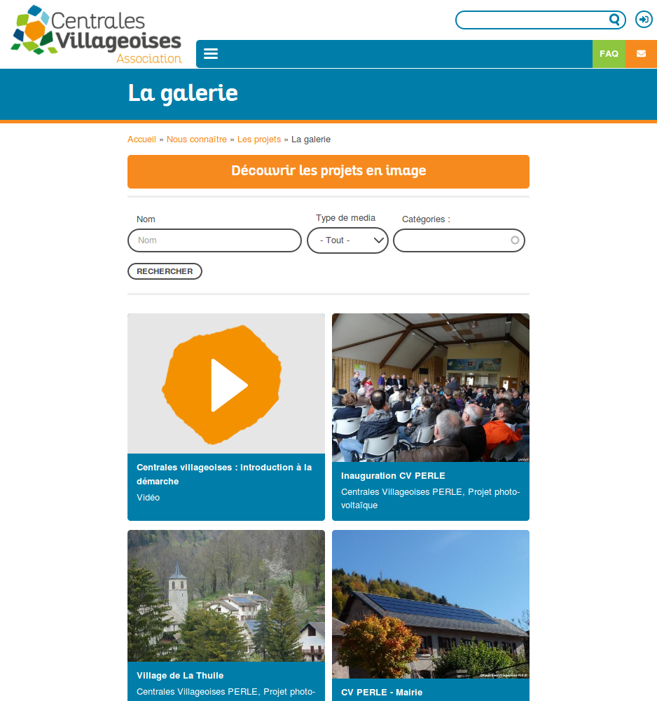 Le site de l'association Centrales Villageoises