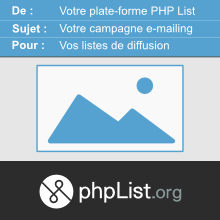 PHP List campagne emailing image